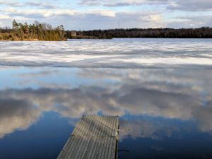 Clouds on ice and water