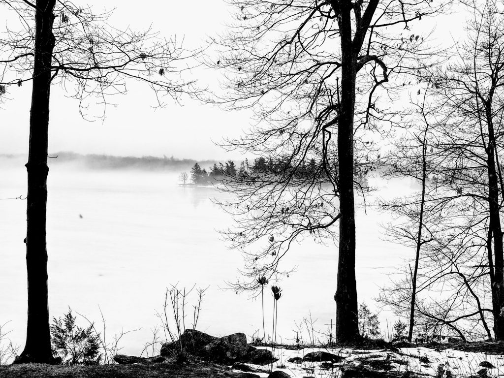 As winter leaves the lake . . .
